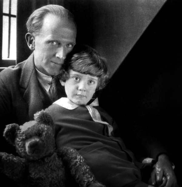 The real A. A. Milne and Christopher Robin